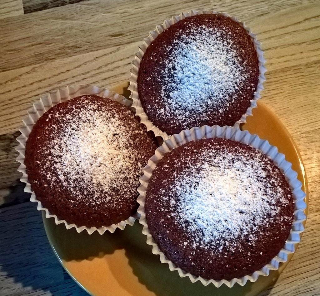 Vegane Schoko-Muffins, einfach und schnell. Und lecker ...