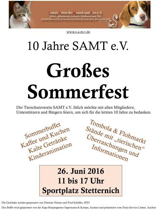 Abbildung: Poster mit dem Termin des Sommerfestes