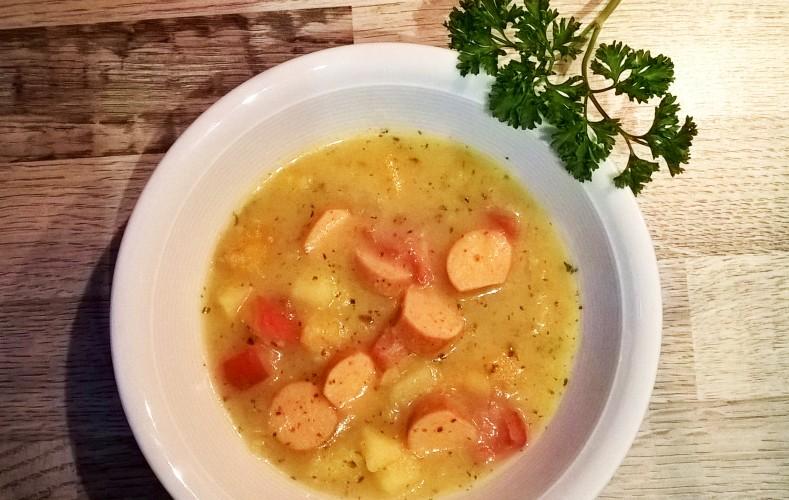 Rezept: Kartoffeleintopf mit Veggie-Würstchen