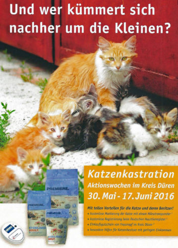Abbildung: Plakat zur Kastrationsaktion