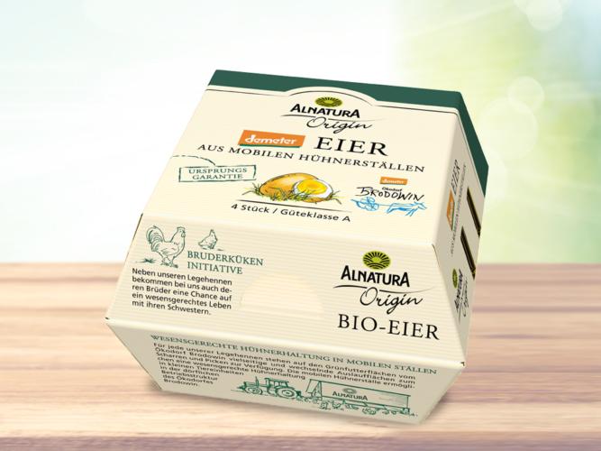 Packshot Demeter-Eier von Alnatura